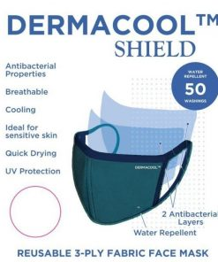 Dermacool SHIELD Reusable Mask – Turquoise Contra [Aurigamart Authorized Distributor]