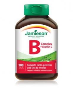 Jamieson Vitamin B Complex + Vitamin C 100 caplets
