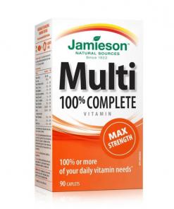 Jamieson Vitamins 100% Complete Multivitamin Max Strength Caplets 90s