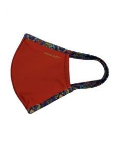 Dermacool Sports Reusable Mask Available in L - Red with Batik Contra