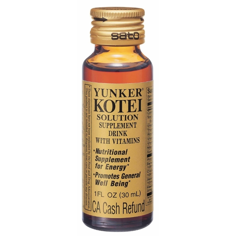 YUNKER KOTEI SOLUTION SUPPLEMENT DRINK WITH VITAMINS 30 ML