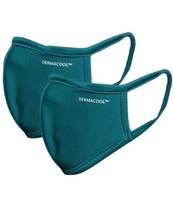 [Bundle of 2] Dermacool Reusable 3-Ply Shield Mask Turquoise Color