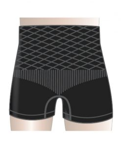 Omnigon Diamond Plus Unisex Boxers (Black) Support Garment for Parastomal Hernia Prevention, Support and Management