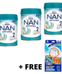 [Bundle of 3] Nestlé® NAN® OPTIPRO® 2 Follow-up Formula 2'-FL 850g (Exp Feb 2023) [Aurigamart Authorised Distributor]