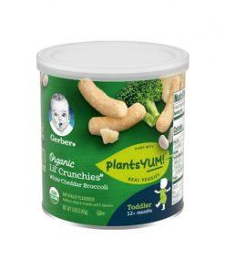 GERBER® Organic Lil' Crunchies® White Cheddar Broccoli 45g